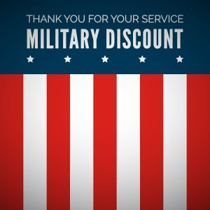 Military Discounts - Plumbing Services